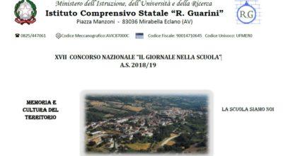 """Istituto Comprensivo Statale """"R. Guarini""""- Concorso nazionale """" Il giornale nella scuola"""" XVII Edizione."""